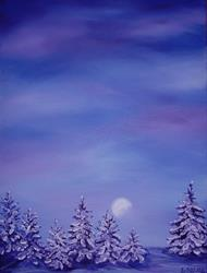 Art: Winter Moonlight by Artist Lindi Levison