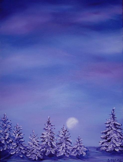 Art: Winter Moonlight by Artist Lindi Levison
