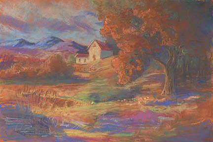 Art: The Farmhouse On The Hill by Artist Carol Thompson