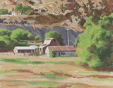 Art: Just Down The Road by Artist Carol Thompson