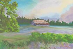 Art: Barn On The Hill by Artist Carol Thompson