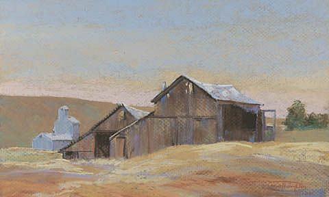 Art: Grain Barns by Artist Carol Thompson