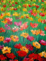 Art: Poppies For Peace by Artist Lindi Levison