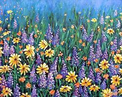 Art: Whispering Wildflowers by Artist Lindi Levison