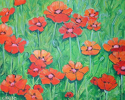 Art: Icelandic Poppies by Artist Lindi Levison