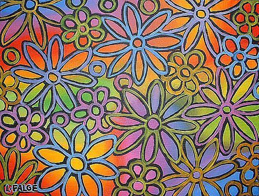 Art: Flower Power by Artist Lindi Levison