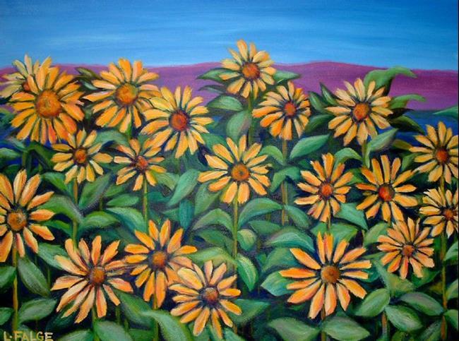 Art: Sunflowers by Artist Lindi Levison