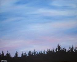 Art: Oregon Twilight by Artist Lindi Levison