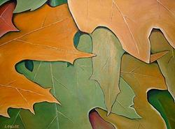 Art: Autumn Leaves by Artist Lindi Levison