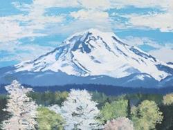 Art: Mt Rainier In Spring by Carol Thompson