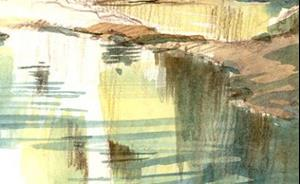 Detail Image for art Rush Creek Pool (plien aire sketch)
