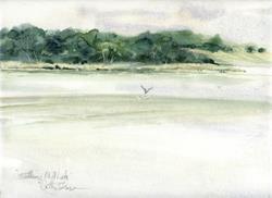 Art: Watkins Mill Lake by Artist Cathy  (Kate) Johnson