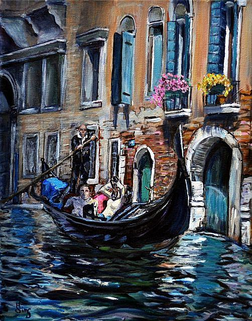 Art: Tourists in Venice by Artist Heather Sims