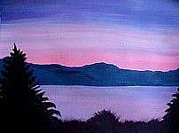 Art: Lavender Nights by Artist KiniArt