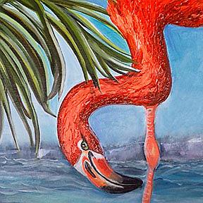 Detail Image for art Flamingo Beach: the Painting