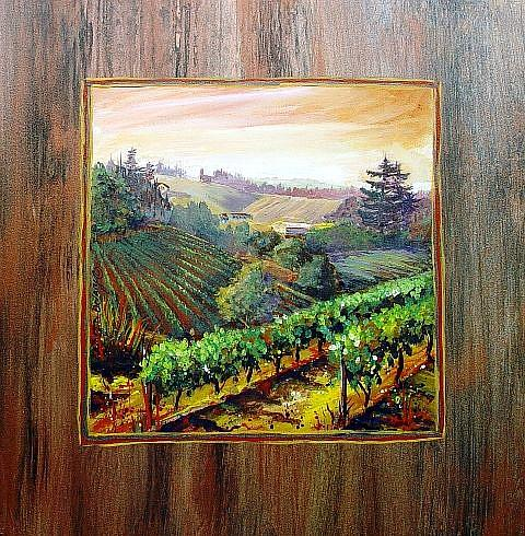 Art: Wine Series: NW Bounty by Artist Kathryn Delany