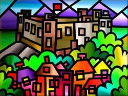 Art: Harlech Castle by Artist Amanda Hone