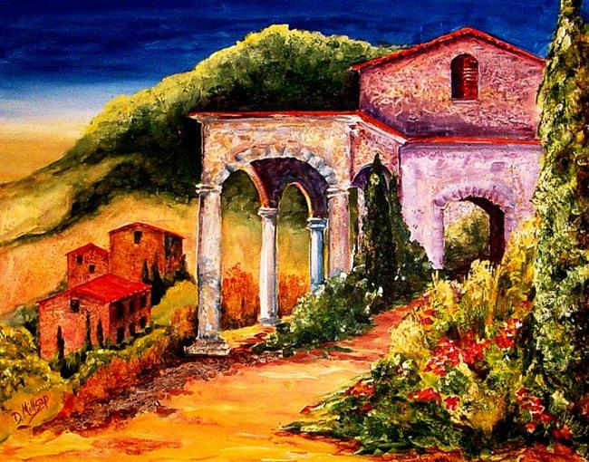 Art: Villa in Tuscany - SOLD by Artist Diane Millsap