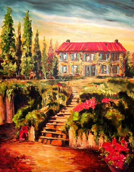 Art: Italianate Garden by Artist Diane Millsap
