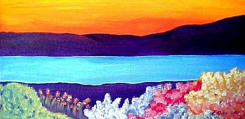 Art: October Island by Artist KiniArt