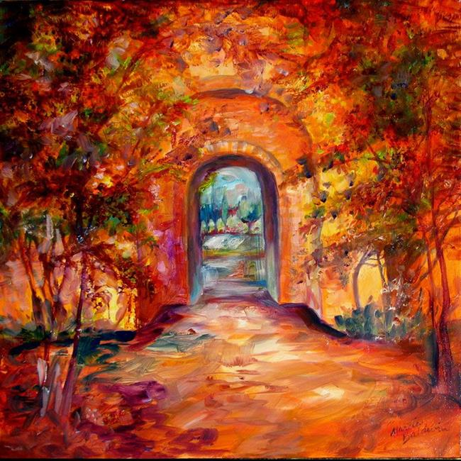 Art: INTO A TUSCANY GARDEN PATH by Artist Marcia Baldwin