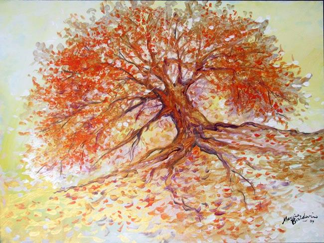 Art: GOLDEN TREE MORNING by Artist Marcia Baldwin