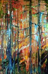 Art: CYPRESS WOODLANDS in FALL by Artist Marcia Baldwin