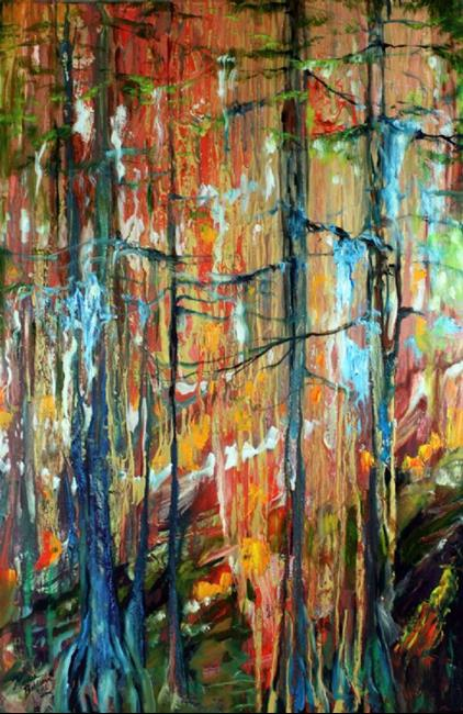 Art: CYPRESS WOODLANDS in FALL by Artist Marcia Baldwin