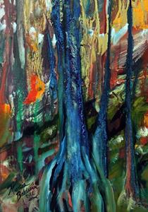 Detail Image for art CYPRESS WOODLANDS in FALL