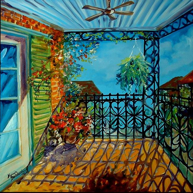 Art: FRENCH QUARTER BALCONY IV by Artist Marcia Baldwin
