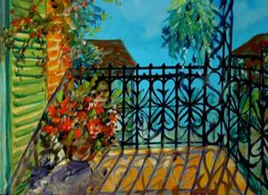 Detail Image for art FRENCH QUARTER BALCONY IV