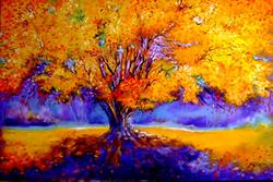Art: OLD TREE GOLDEN by Artist Marcia Baldwin
