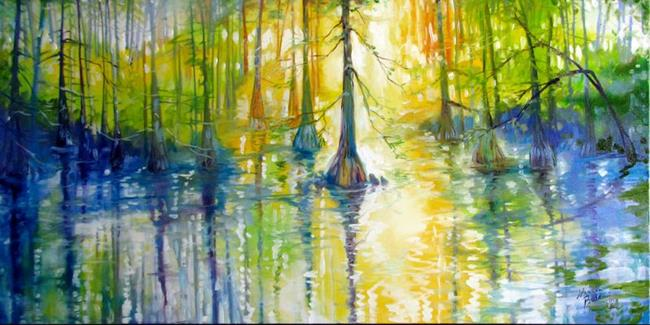 Art: CYPRESS BAYOU WETLANDS by Artist Marcia Baldwin