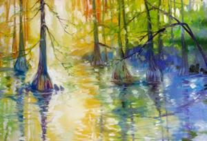Detail Image for art CYPRESS BAYOU WETLANDS
