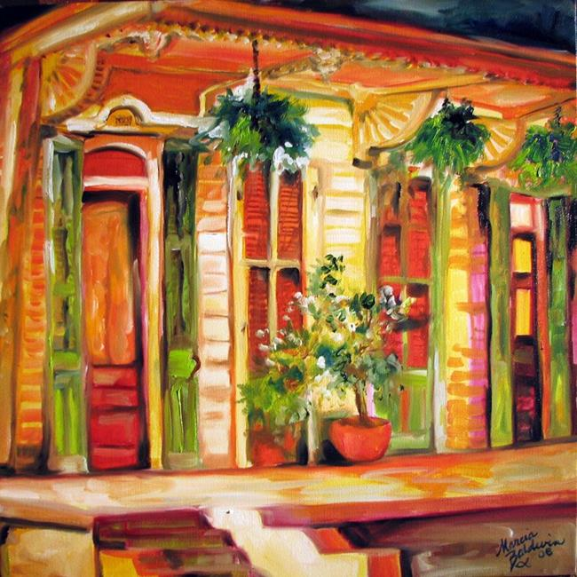 Art: NEW ORLEANS FRENCH QUARTER HOME by Artist Marcia Baldwin