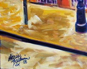 Detail Image for art FRENCH QUARTER CAFE on ROYAL ST.