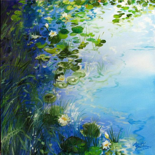 Art: WATERLILY LANDSCAPE by Artist Marcia Baldwin