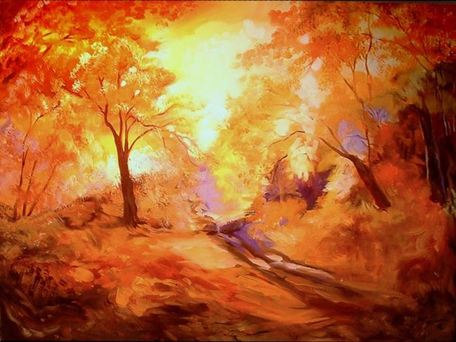 Art: GOLDEN PATH by Artist Marcia Baldwin