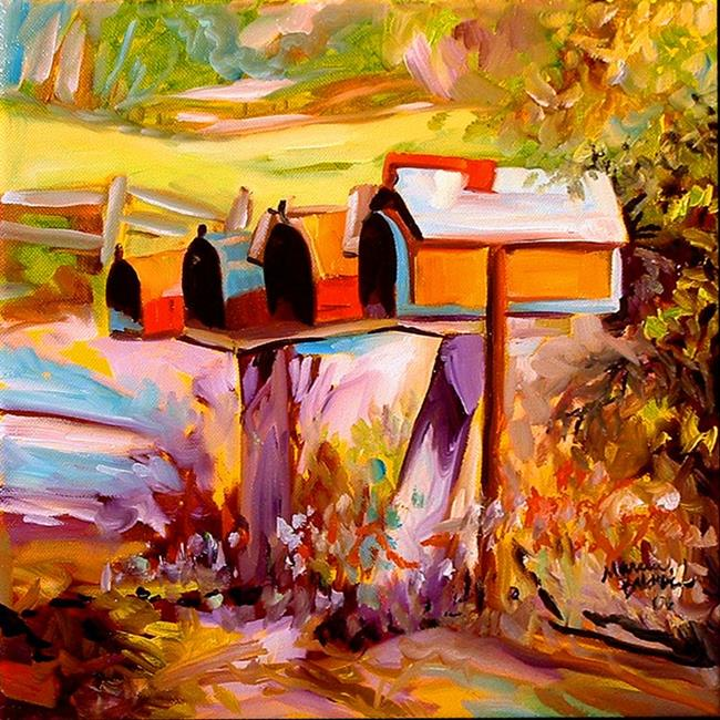 Art: COUNTRY MAILBOXES by Artist Marcia Baldwin