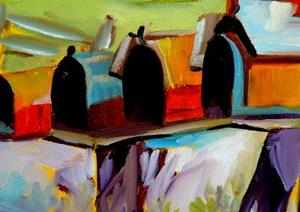 Detail Image for art COUNTRY MAILBOXES