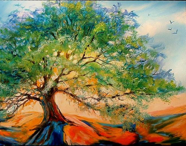 Art: OLD OAK TREE by Artist Marcia Baldwin
