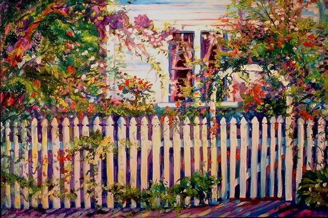 Art: GARDEN GATE by Artist Marcia Baldwin