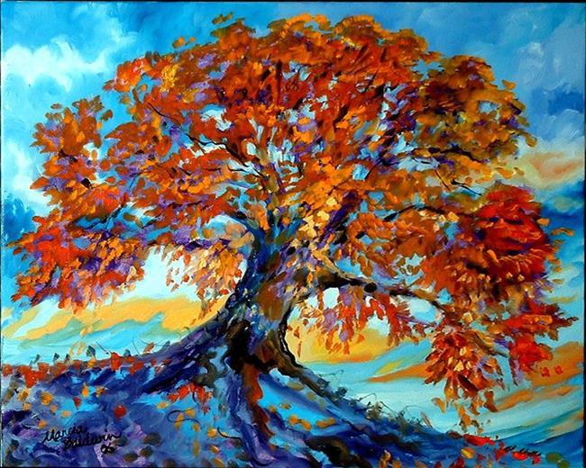 Autumn landscape oil painting deer pic 21