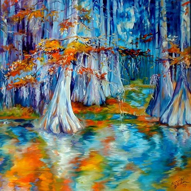 Art: CYPRESS TREES & MOSS by Artist Marcia Baldwin