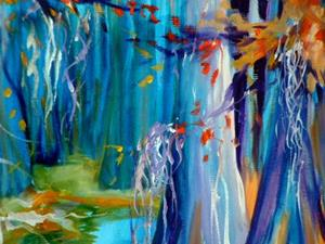 Detail Image for art CYPRESS TREES & MOSS
