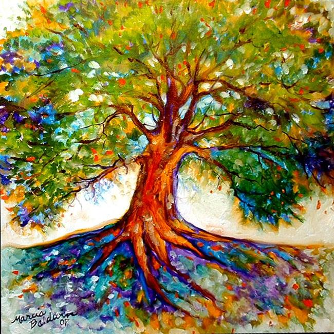 Lexicon Tree of Life 4 Painting by Blenda Studio  Simple Tree Life Painting