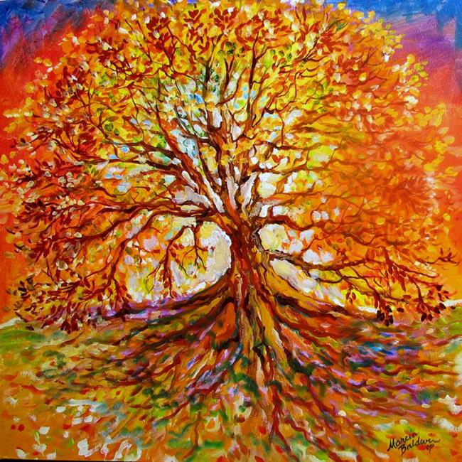 Tree of life autumn by marcia baldwin from landscapes for Autumn tree painting