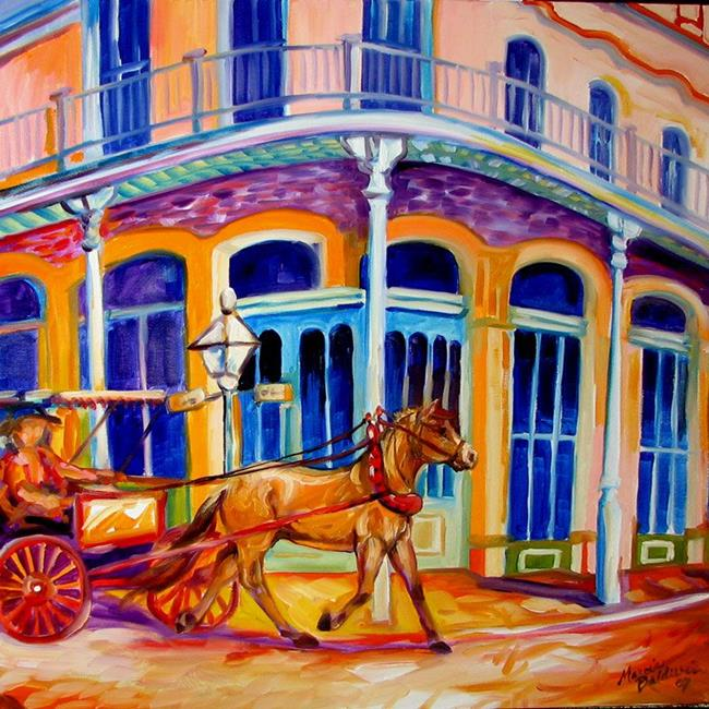 Art: EARLY MORNING FRENCH QUARTER by Artist Marcia Baldwin