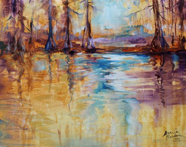 Art: GOLDEN CYPRESS ABSTRACT I by Artist Marcia Baldwin