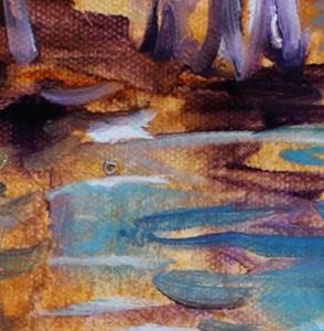 Detail Image for art GOLDEN CYPRESS ABSTRACT I